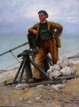 August Hagborg fisherman in bretagne