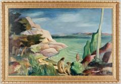GUNNAR TORHAMN, olja pΠduk,  sign o dat 32.80 x 122cm