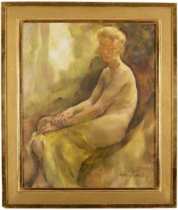 Lotte Laserstein Half Nude (Madeleine), ca 1941 Oil on board, 74 x 61cm framed