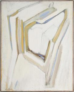 Bengt Lindström Olja på duk ca 160 x 130 Ustställd i sin första utställning på Salon des Réalités Nouvelles i Paris 1953 samt på Exposition de Recklinghausen i Tyskland